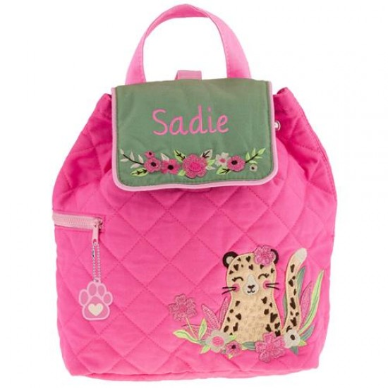 Quilted Backpack - Leopard
