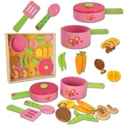 Wooden Toy Play Set - Butterfly Cook Set